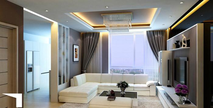 Mẫu thiết kế căn hộ chung cư theo phong cách hiện đại